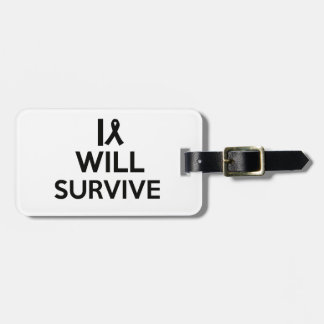 cancer survive luggage tag