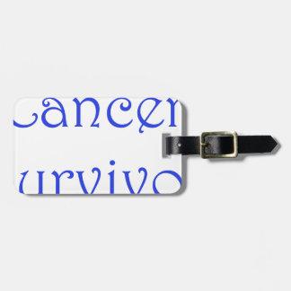 Cancer Survivor-Blue Luggage Tag