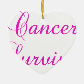 Cancer Survivor Ceramic Ornament