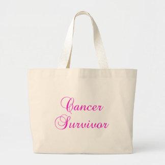 Cancer Survivor Large Tote Bag