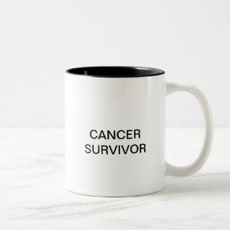 CANCER SURVIVOR Two-Tone MUG