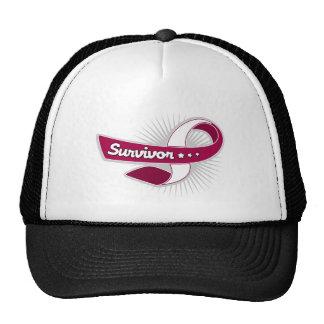 Cancer Survivor Ribbon Throat Cancer Trucker Hat