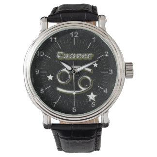 Cancer symbol wrist watches
