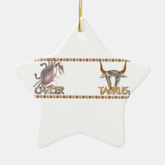 Cancer Taurus astrology friendship by Valxart Christmas Ornament