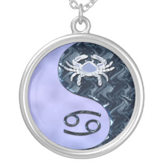 Cancer Yin Yang Silver Plated Necklace