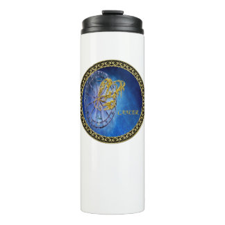 Cancer Zodiac Astrology design Horoscope Thermal Tumbler