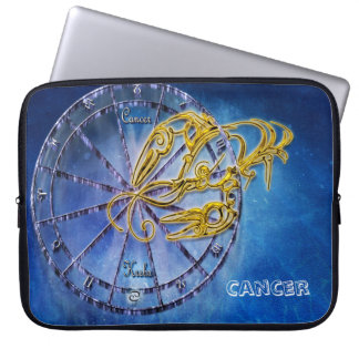 Cancer Zodiac Astrology design Laptop Sleeve
