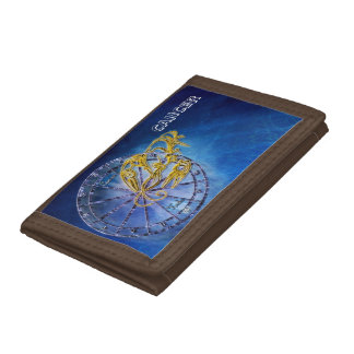 Cancer Zodiac Astrology design Trifold Wallets
