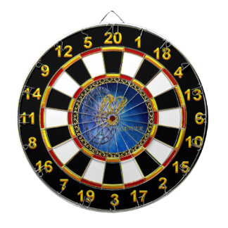 Cancer Zodiac Astrology gold plated foil design Dartboard