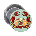 Cancer Zodiac - Crab Buttons