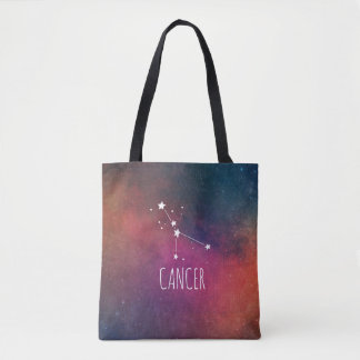 Cancer Zodiac Galaxy Tote Bag