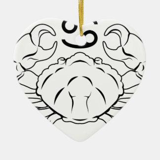 Cancer zodiac horoscope astrology sign christmas ornaments