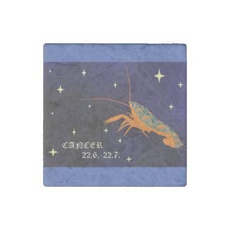 Cancer Zodiac Marble Magnet Stone Magnet