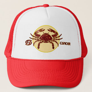 Cancer Zodiac Ruby Designer Modern Trucker Hat