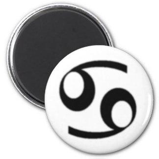 Cancer, Zodiac Sign 6 Cm Round Magnet