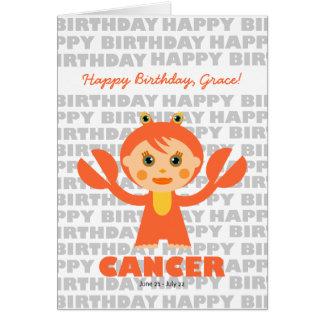 Cancer Zodiac Sign Birthday Card