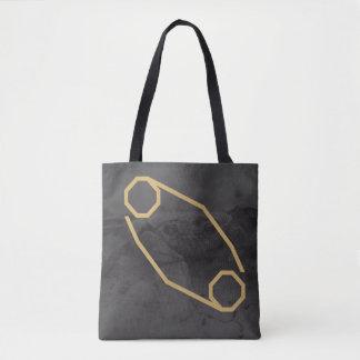 Cancer  Zodiac Sign | Custom Background Tote Bag