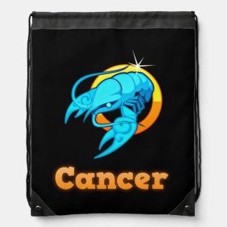 Cancer zodiac sign drawstring bag