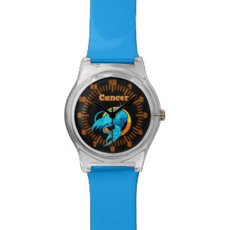 Cancer zodiac sign wrist watch