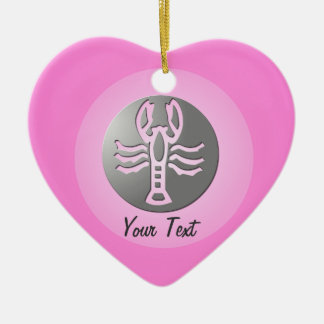 Cancer Zodiac Star Sign Premium Silver Ceramic Ornament