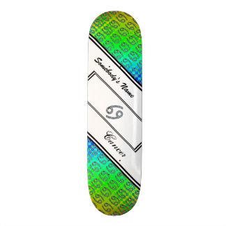 Cancer Zodiac Symbol Element Skateboard Deck