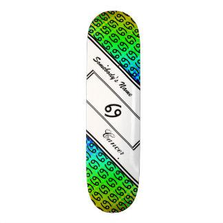 Cancer Zodiac Symbol Standard by Kenneth Yoncich 18.1 Cm Old School Skateboard Deck