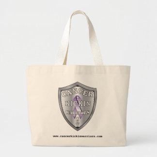 cancerkickinwarriors-logo-LARGE Large Tote Bag