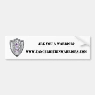 cancerkickinwarriors-logo-SMALL, ARE YOU A WARR... Bumper Sticker