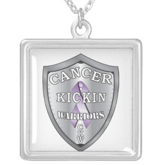 cancerkickinwarriors-logo-SMALL Silver Plated Necklace