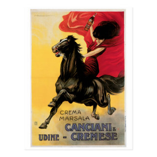 Canciani Cremese Vintage Wine Ad Art Postcards