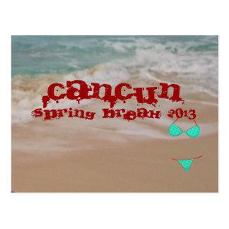 Cancun 2013 Spring Break Beach Waves Postcard