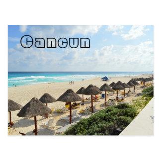 Cancun Beach Oceanfront Waves Tourist Postcard