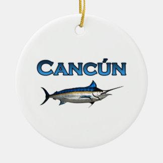 Cancun Blue Marlin Ceramic Ornament
