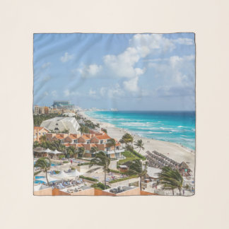 Cancun city on beachside scarf