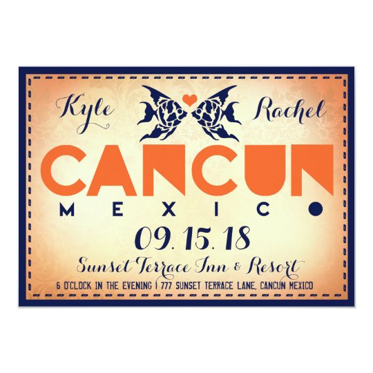 CANCUN Destination Wedding Invitation