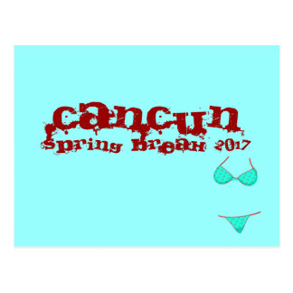 Cancun Mexico | 2017 Spring Break Teal Blue Postcard