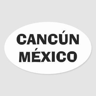 Cancun, Mexico Oval Sticker