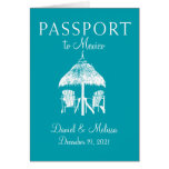 Cancun Mexico Passport Save the Date Note Card