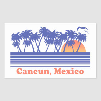 Cancun Mexico Rectangular Sticker