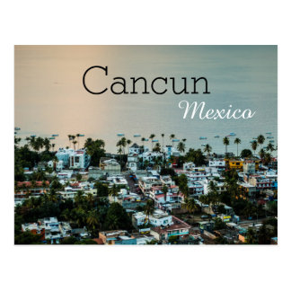 Cancun Mexico Skyline Rooftop Photography Postcard