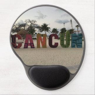 Cancun Sign – Playa Delfines, Mexico Gel Mousepad