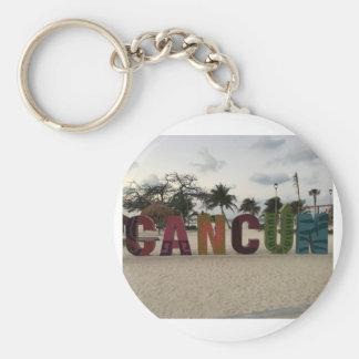 Cancun Sign – Playa Delfines, Mexico Keychain