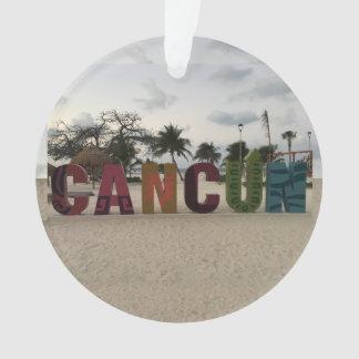 Cancun Sign – Playa Delfines, Mexico Ornament