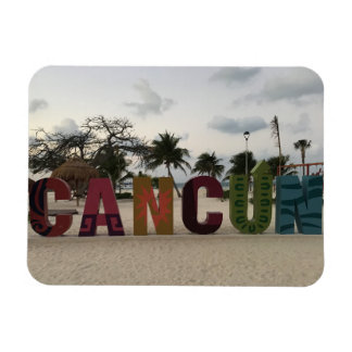 Cancun Sign – Playa Delfines, Mexico Photo Magnet