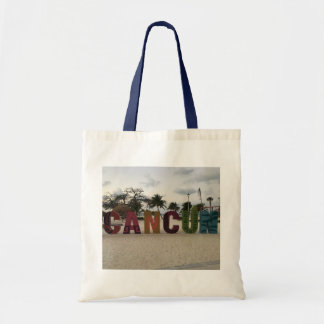 Cancun Sign – Playa Delfines, Mexico Tote Bag