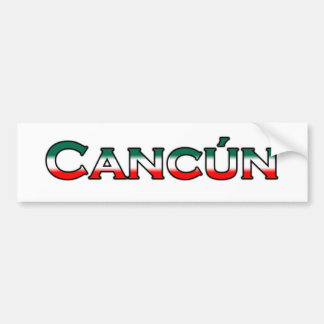 Cancun (text logo) bumper sticker