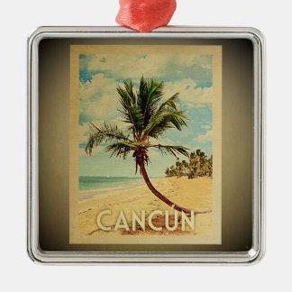 Cancun Vintage Travel Ornament Palm Tree