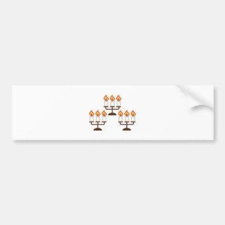 Candelabra Bumper Sticker