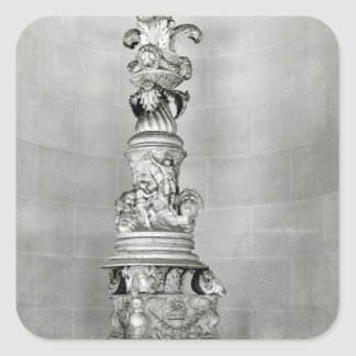 Candelabra designed by Piranesi on the basis Square Sticker