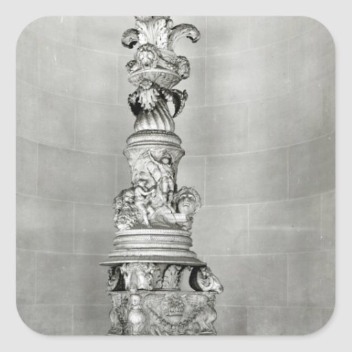 Candelabra designed by Piranesi on the basis Stickers